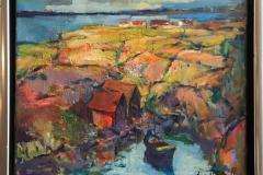 Arne Kleng Dahle: Kyst Akrylmaleri (38x46 cm) kr 4500 mr