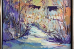 Arne Kleng Dahle: Lys vinterdag Akrylmaleri (61x85 cm) kr 9000 mr