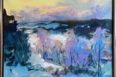 Arne Kleng Dahle: Senvinter Akrylmaleri (800x100 cm) kr 14500 mr