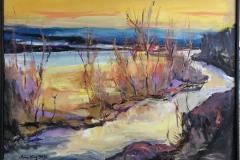 Arne Kleng Dahle: Tidlig vår Akrylmaleri (60x80 cm) kr 7500 mr