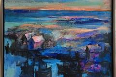 Arne Kleng Dahle: Utpost Akrylmaleri (80x80 cm) kr 12000 mr