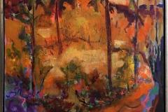 Arne Kleng Dahle: Varm høstdag Akrylmaleri (80x80 cm) kr 12000 mr