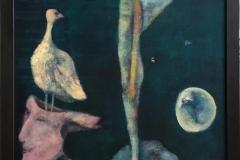 Trine Støren: Helt stille Akrylmaleri (81x65 cm) kr 10000 mr