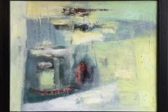 Trine Støren: Innsektsommer Akrylmaleri (47x61 cm) kr 5800 mr