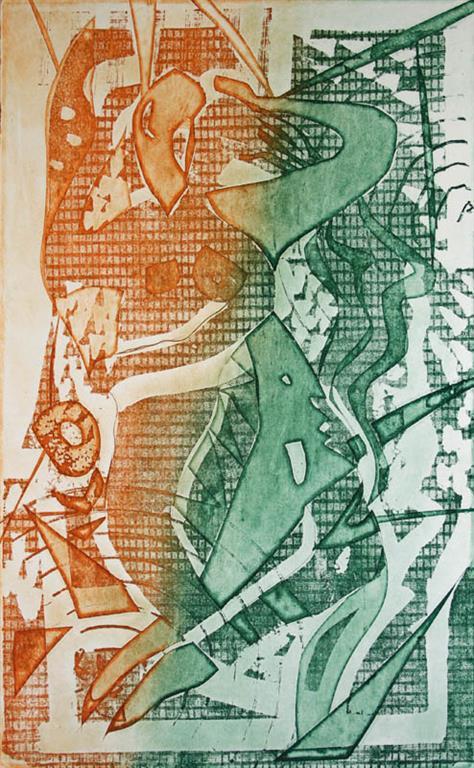 Kjaerlighet I Litografi 40x25cm 1400,-kr u.r.