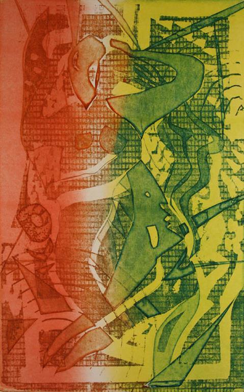 Kjaerlighet II Litografi 40x25cm 1400,-kr u.r.