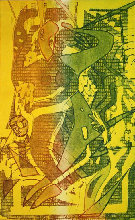 Kjaerlighet Litografi 40x25cm 1400,-kr u.r.