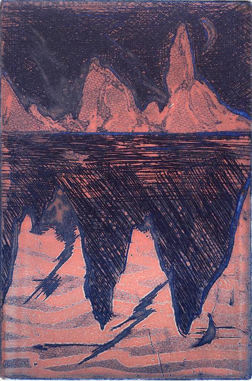 Speiling Etsning (15x10 cm) kr 400 ur