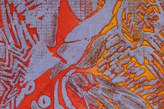 Birds Litografi 30x19,5cm 1000,-kr u.r.