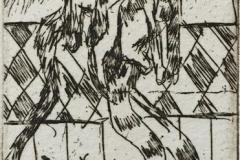 Tre katter Etsning (10x5 cm) kr 230 ur