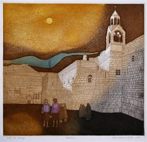 Betlehem Etsning 35x37,5 cm 1000 ur