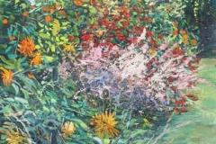 Indian Summer at Hellands garden Oljemaleri (90x45 cm) kr 8000 ur