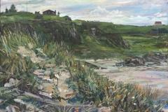 Ræge Stranden In September Oljemaleri (50x60 cm) kr 6000 ur