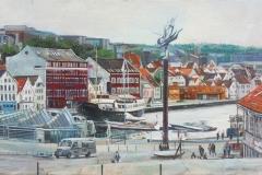 Stavanger's Longest Day Oljemaleri (30x50 cm) kr 8000 ur
