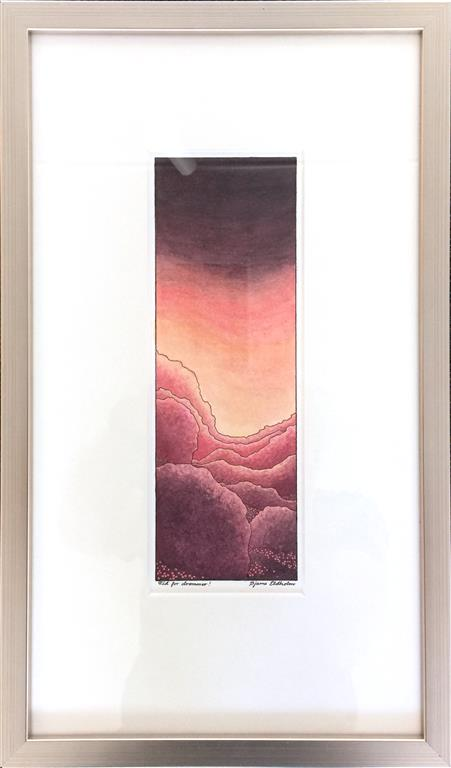 Tid for drømmer Tusj, akvarell (24x8 cm) kr 3600 mr