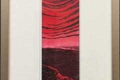 Rød drøm Akvarell (24x8 cm) kr 4400 mr