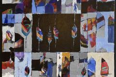 Fremmed havn Akrylmaleri (70x70 cm) kr 7800 ur