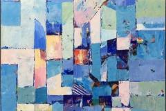 Sommerminne II Akrylmaleri ( 80x80 cm) kr 11000 ur