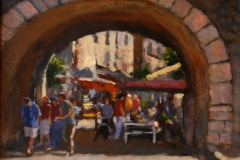 Byport i Antibes Akrylmaleri 30x40cm 5000,-kr m.r.