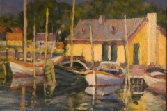 Fiskehavn-i-Mariagerfjord-Akrylmaleri-26x35cm-3500-kr-m.r