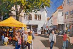 Loerdag-i-Stavanger-Akrylmaleri-50x50cm-7500-kr-m.r.