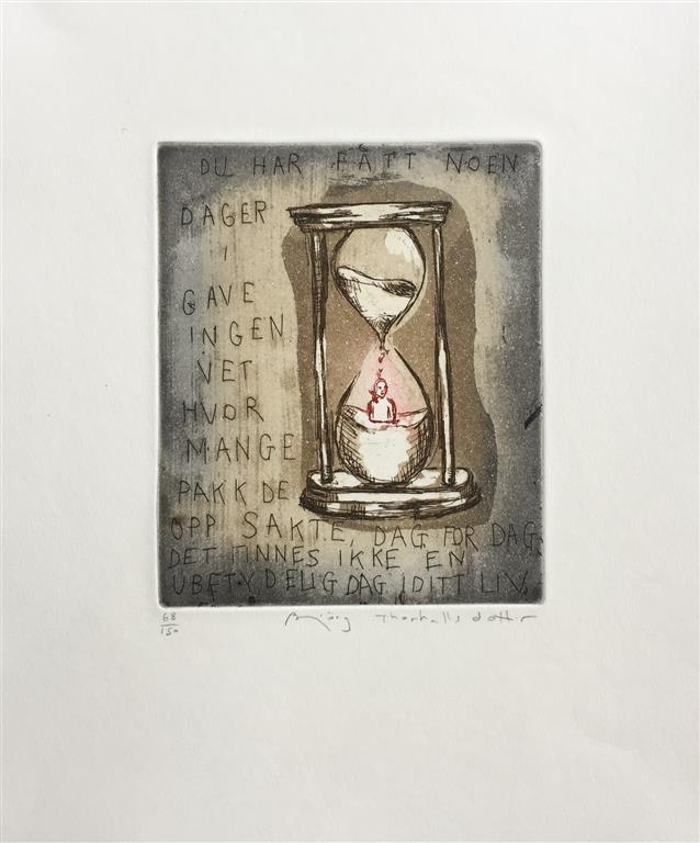 Du har fått noen dager i gave Etsning (16x13 cm) kr 1400 ur