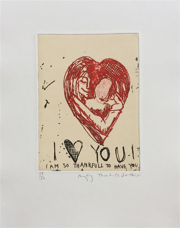 I love you Etsning (18x13 cm) kr 1000 ur