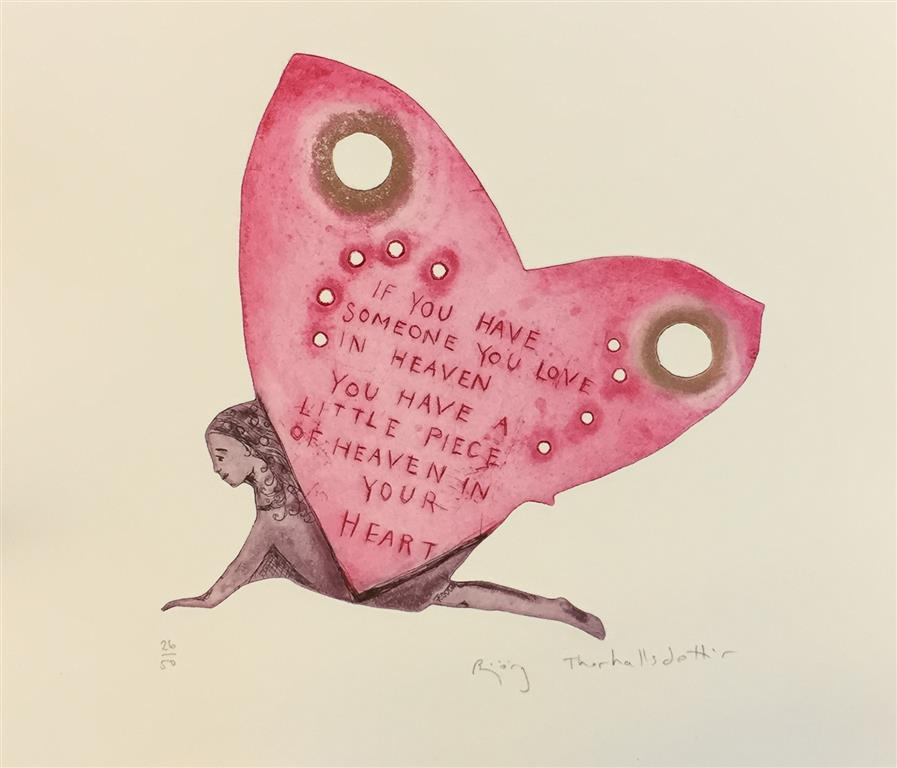 If you have someone you love in heaven (rosa) Etsning (24x24 cm) kr 1600 ur