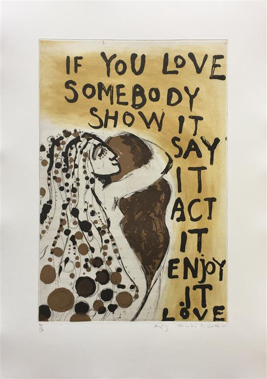 If you love somebody Etsning (44x30 cm) kr 3000 ur