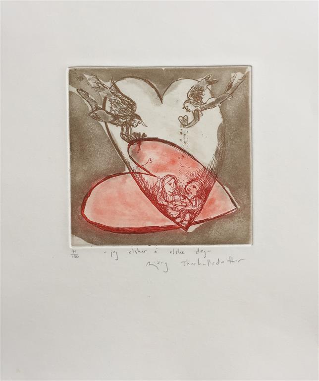 Jeg elsker å elske deg Etsning (15x14 cm) kr 1400 ur