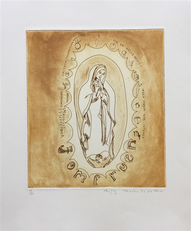 Jomfruen Etsning (27x24 cm) kr 2500 ur