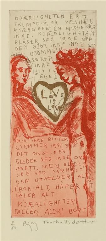 Love is love Etsning (20x8 cm) kr 1300 ur