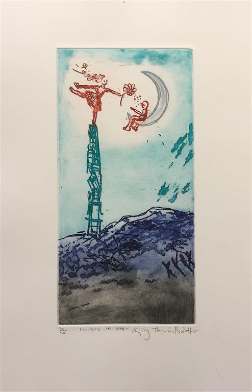 Lunities in love Etsning (28x14 cm) kr 1900 ur