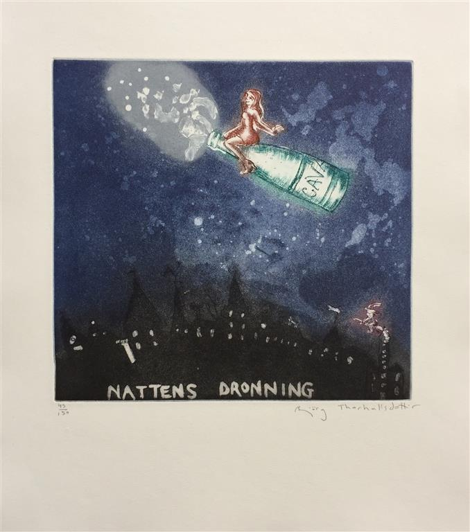 Nattens dronning Etsning (25x25 cm) kr 2400 ur