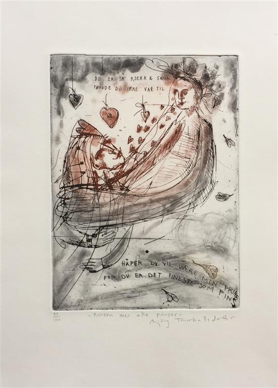 Prinsen over alle prinser Etsning (24x17 cm) kr 2300 ur