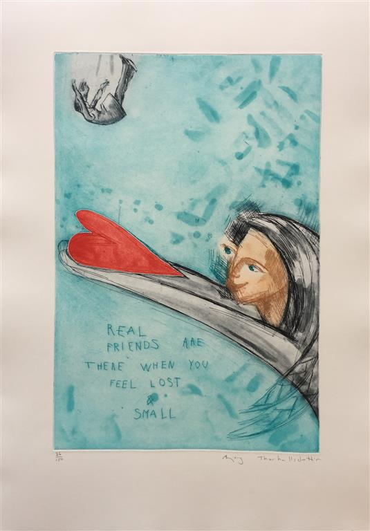 Real friends Etsning (44x30 cm) kr 3000 ur