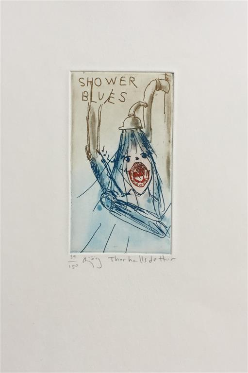Shower blues Etsning (12x7 cm) kr 800 ur