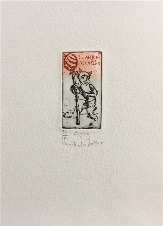 Slankedjevelen Etsning (7x4 cm) kr 700 ur