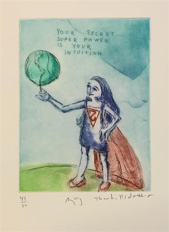 Your secret superpower is your intuition Etsning (20x15 cm) kr 1400 ur