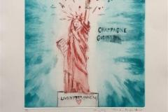Champagne gudinnen Etsning (29x27 cm) kr 2600 ur