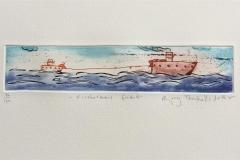 Fishermans friend Etsing (5x24 cm) kr 1200 ur