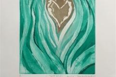 Hjertebånd Etsning (25x21 cm) kr 2300 ur