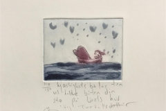Kjærlighetsballasten vil holde båten Etsning (8x9 cm) kr 800 ur