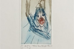 Shower blues Etsning (12x7 cm) kr 800 ur