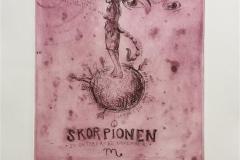 Skorpionen Etsning (27x24 cm) kr 2500 ur