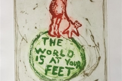 The world is at your feet Etsning (42x38 cm) kr 3500 ur