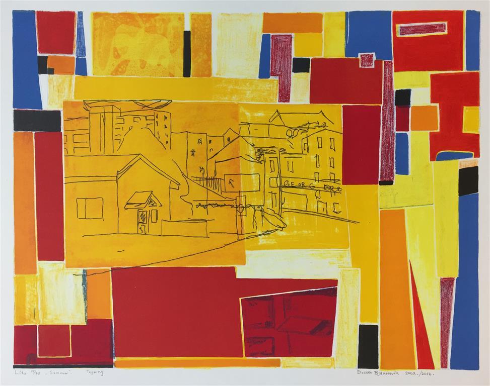 Sommer III. Litografi, tegning (50x65 cm) kr 3700 ur