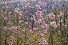 Blomsterglede III Oljemaleri 45x61 cm 3500 ur