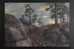 Aprilmorgen 1 Nordkollen Oljemaleri (70x100 cm) kr 55000 mr