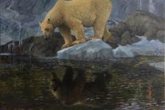 Klimakrise 1 -  Speilinger i nord Oljemaleri (120x160 cm) KE